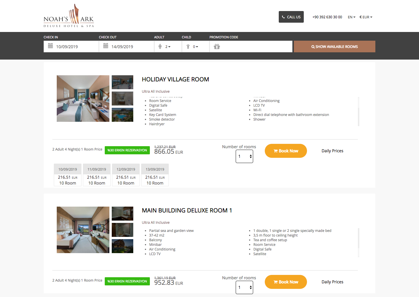 easypms Hotel management Online Booking engine