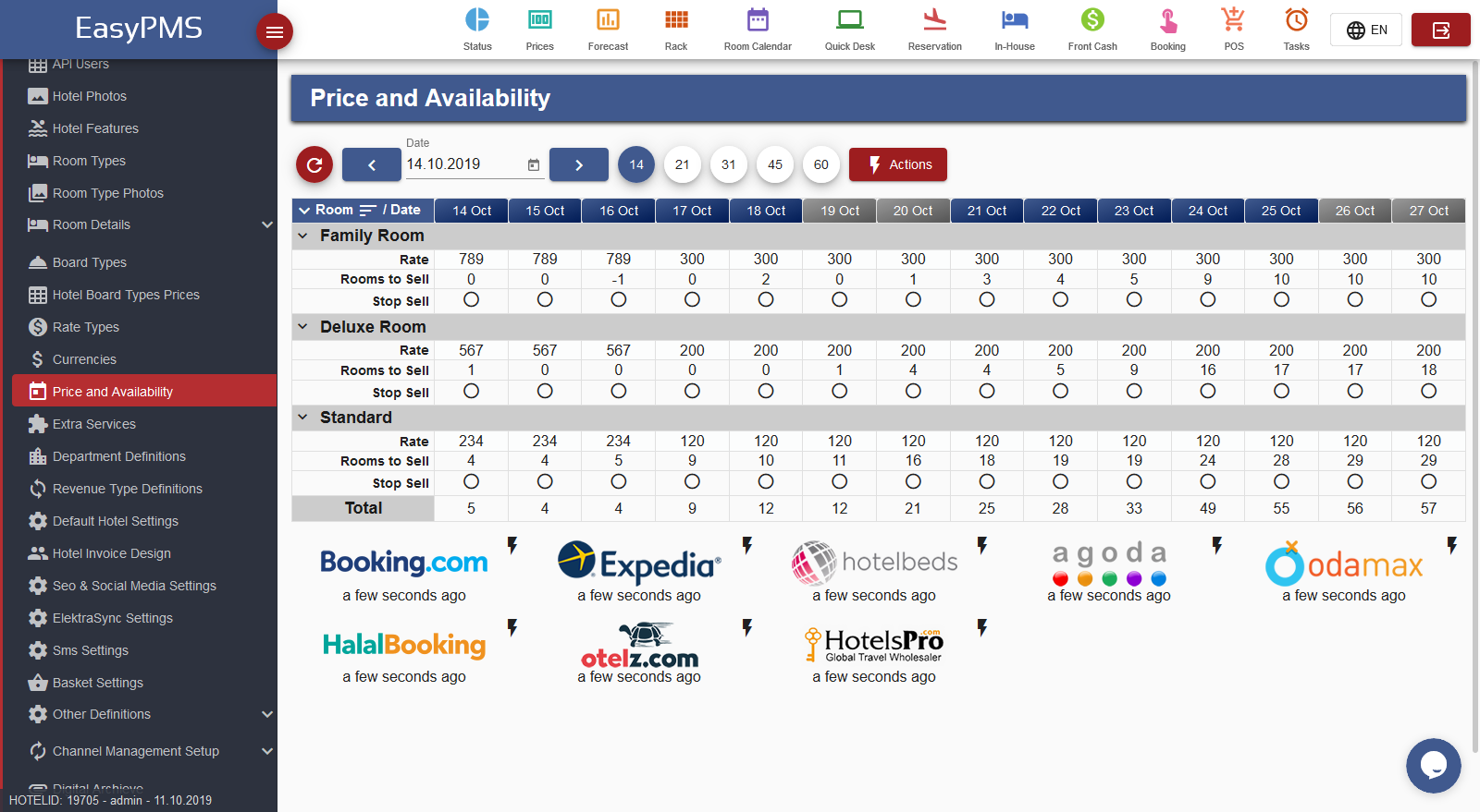 easypms hotel management software channel manager